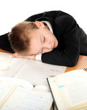Schoolboy sleep Royalty Free Stock Photo