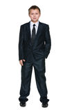 Schoolboy in the suit Royalty Free Stock Images