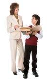 Schoolboy and teacher Stock Photos