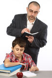 Schoolboy and  teacher Royalty Free Stock Photography