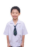Schoolboy in uniform Stock Photo