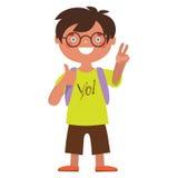 Schoolboy. Vector illustration Schoolboy cute character Stock Image