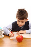 Schoolboy write Royalty Free Stock Images