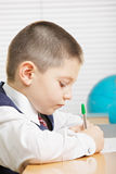 Schoolboy writing Royalty Free Stock Photo