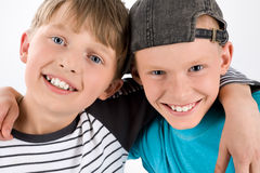 Schoolboys best of friend Stock Photo