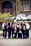 Schoolboys in Edinborgh, Scotland Stock Photos