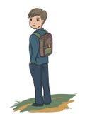 Schoolboystanding Royaltyfria Foton