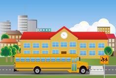 Schoolbus Arkivfoto