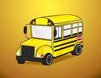 Schoolbus binnen  Stock Illustratie