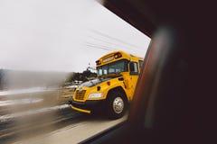 Schoolbus du Québec photographie stock libre de droits