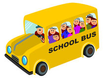 Schoolbus ride Royalty Free Stock Photography