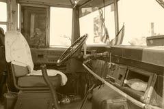 Schoolbus w Kuba obraz royalty free