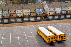 Schoolbuses in Atlanta, Georgia, USA. Royalty Free Stock Image