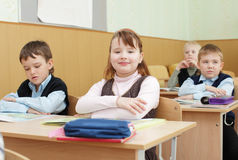 Schoolchild in a class Stock Photos