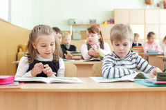Schoolchild in a class Royalty Free Stock Image