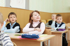 Schoolchild in a class Stock Photos