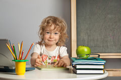 Schoolchild in class Royalty Free Stock Photo