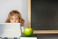 Schoolchild in class Royalty Free Stock Images