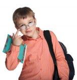 Schoolchild in glasses Stock Photo