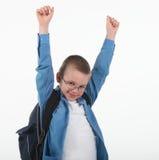 Schoolchild in glasses Stock Photography