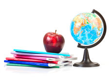 Schoolchild and student studies accessories. Royalty Free Stock Images