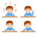 Schoolchild vector avatars collection. Back to school background Stock Photo