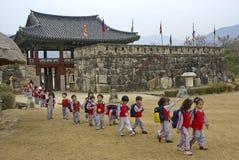 Free Schoolchildren At Naganeupseong Folk Village, South Korea Royalty Free Stock Image - 185835906