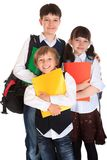 Schoolchildren with books Royalty Free Stock Photos