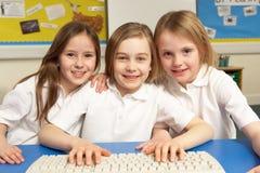 Schoolchildren in IT Class Using Computers Royalty Free Stock Image