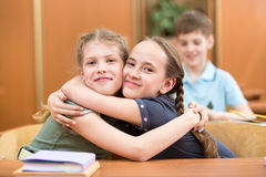 Schoolchildren at lesson break Royalty Free Stock Images