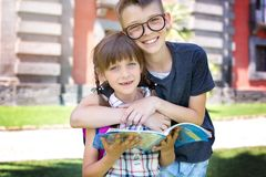 Schoolchildren. Education concept. stock images