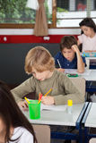 Schoolchildren Studying In Classroom Royalty Free Stock Photos