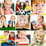 Schoolchildren are trained Stock Images