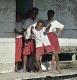 Schoolchildren in uniform Royalty Free Stock Photos