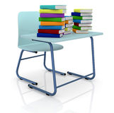 Schooldesk with books Royalty Free Stock Photography