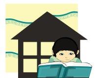 Schooler à la maison Photo libre de droits
