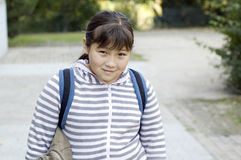 Schoolgirl. royalty free stock image