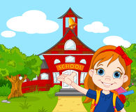schoolgirl royaltyfri illustrationer
