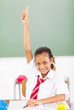 Schoolgirl arm up Royalty Free Stock Image