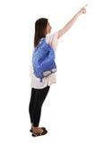 Schoolgirl with backpack. Royalty Free Stock Image