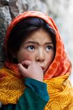 Schoolgirl from Baltistan, Ladakh Royalty Free Stock Photography