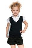 Schoolgirl in black blouse Stock Photography