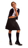 Schoolgirl blowing a kiss Stock Image