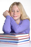 Schoolgirl book. Royalty Free Stock Image