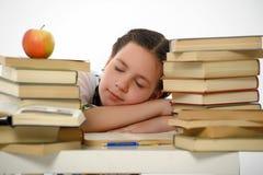 Schoolgirl with books Royalty Free Stock Photos