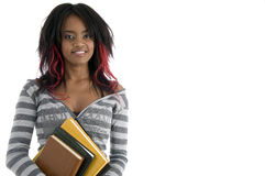 Schoolgirl with books Royalty Free Stock Images