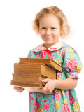 Schoolgirl with books Royalty Free Stock Photography