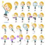 Schoolgirl Caucasian 2. Set of various poses of Schoolgirl Caucasian 2 Royalty Free Stock Image