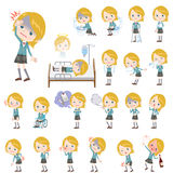 Schoolgirl Caucasian About the sickness Royalty Free Stock Images