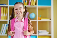 Schoolgirl in class Stock Photo